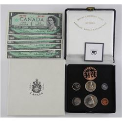 Lot (1867-1967) Collectibles. Silver Mint Sets, Br