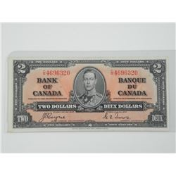 Bank of Canada 1937 - Two Dollar Note. CR/CT. UNC.