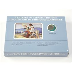 A Gallery of Canadian History 12 - Coin Set - Repr