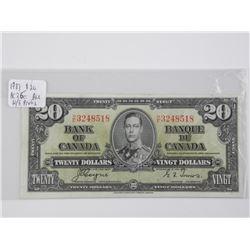 Bank of Canada 1937 - Two Dollar Note. H/E.