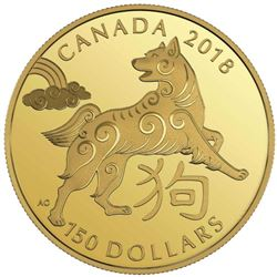 2018 - $150.00 Gold Coin 'Year of the Dog' LE 1500
