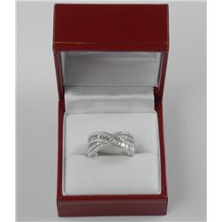 925 Silver - Infinity Design Custom Ring with Swar