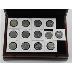 Canada Silver Dollar Collection - 13pc Set. Wood C