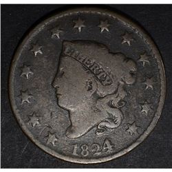 1824/2 LARGE CENT, VG