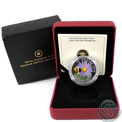 2012 Canada $20 Aster with Venetian Glass Bumble Bee Fine Silver Coin (outer cardboard sleeve is wor