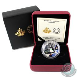 2014 Canada $20 Venetian Glass Snowman Fine Silver Coin (TAX Exempt)