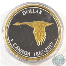 2017 Canada $1 Alex Colville Designs Big Coin Series 5oz. Fine Silver Coin (TAX Exempt). (Capsule is