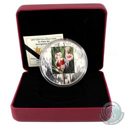 2017 Canada $20 En Plein Air - Springtime Gifts Fine Silver (TAX Exempt). Coin comes encapsulated wi