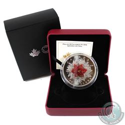 2018 Canada $50 Holiday Splendour Fine Silver (TAX Exempt) . Coin comes with all original packaging