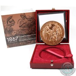 1867-2017 Confederation Re-strike Bronze Medallion. This is a limited edition restrike of Canada's 1