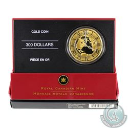 Canada 2005 $300 14K Proof Gold Mountain Standard Time '4:00'
