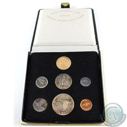 1967 Canada Silver/Gold Confederation Commemorative Year Set with $20 Gold in Original Black Display