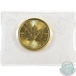 2017 Canada 1/4 oz. $10 Gold Maple Leaf. Fineness is 99.99% Pure Gold (Tax Exempt)