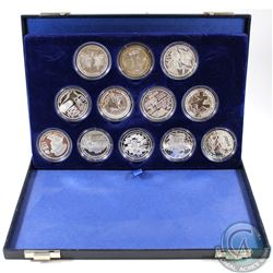 1994 Republic of France 100 Francs 12-coin Silver Proof Set Commemorating the 50th anniversary of th