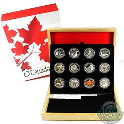 2013 Canada $10 Complete 12-coin O Canada Series Fine Silver Set with Deluxe Collector Case (Tax Exe