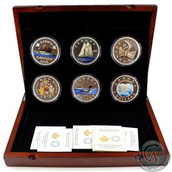 Complete 2016 Canada Big Coin Series 5 oz. Fine Silver 6-Coin Set With Official RCM Display Box (Tax