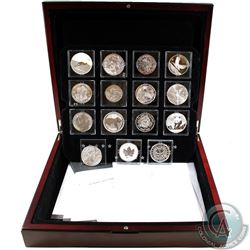 2012 Fabulous 15 World's Most Famous Silver 15-Coin Set in Deluxe Wooden Display Case with 8x COAs (