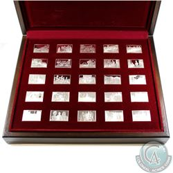 United Kingdom 1977 Queen Elizabeth Sterling Silver Ingot Set. This Set includes 25 specially Struck