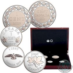 2017 Canada Legacy of the Penny Fine Silver 5-Coin Set in Deluxe Display Case (the capsules are ligh