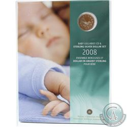 2008 Canada Baby Lullabies Loonie Silver Dollar with CD Set *Still Sealed*