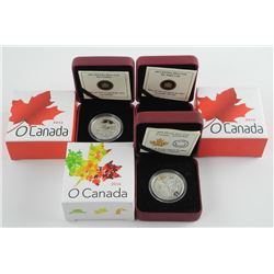 Lot (3) .9999 Fine Silver $10.00 Coins 'Caribou, G