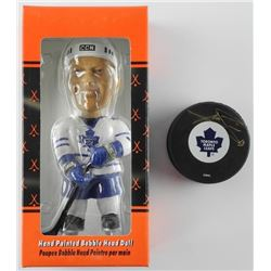 Mats Sundin - 'LE' Bobble Head and Signed TML Puck