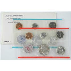 1964 USA  Coin Sets, Includes Silver. UNC.