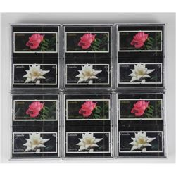 6x Double Deck - Playing Cards - Flowers.