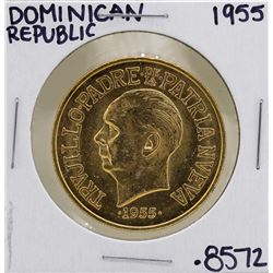 1955 Dominican Republican 30 Pesos Gold Coin