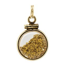 Gold Nugget Pendant Total Weight .46 Grams