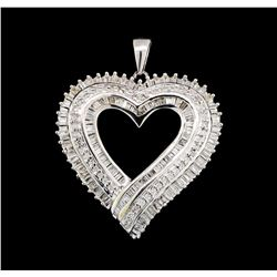 10KT White Gold 0.50 ctw Heart Shape Pendant