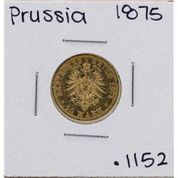 1875-B Germany-Prussia 10 Marks Gold Coin