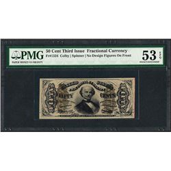 1863 Third Issue 50 Cent Fractional Currency Note PMG About Uncirculated 53EPQ