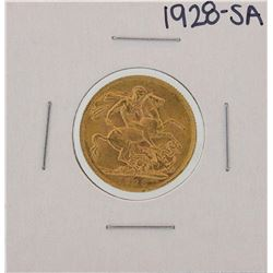 1928-SA Pretoria Australian Sovereign Gold Coin