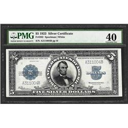 1923 $5 Porthole Silver Certificate Note PMG Extremely Fine 40