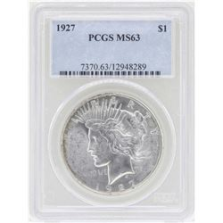 1927 $1 Peace Silver Dollar Coin PCGS MS63
