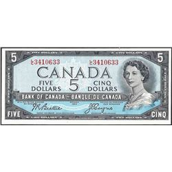 1954 $5 Bank of Canada Note