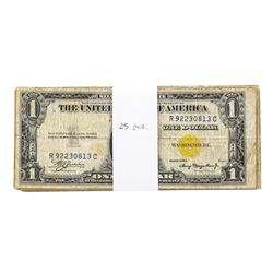 Lot of (25) 1935A $1 North Africa WWIII Emergency Silver Certificate Notes