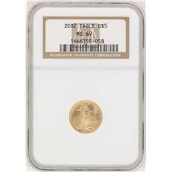 2002 $5 American Gold Eagle Coin NGC MS69