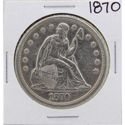1870 $1 Seated Liberty Silver Dollar Coin