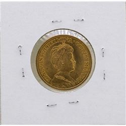 1913 Netherlands Queen Wilhelmina 10 Gulden Gold Coin
