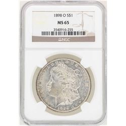 1898-O $1 Morgan Silver Dollar Coin NGC MS65