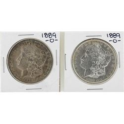 Lot of (2) 1889-O $1 Morgan Silver Dollar Coins