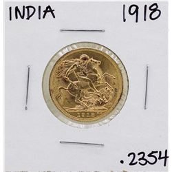 1918-I Indian Bombay Great Britain George Sovereign Gold Coin