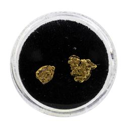 Lot of (2) Gold Nuggets Total Weight 0.88 Grams