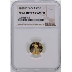 1988-P $5 American Gold Eagle Coin NGC PF69 Ultra Cameo