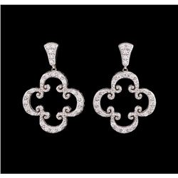 18KT White Gold Ladies 0.70 ctw Diamond Earrings