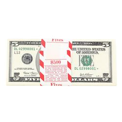 Pack of (100) Consecutive 2003 $5 Federal Reserve STAR Notes