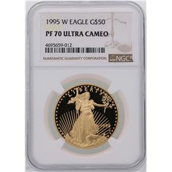 1995-W $50 American Gold Eagle Coin NGC PF70 Ultra Cameo