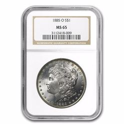 1885-O Morgan Dollar MS-65 NGC HIGH GRADE